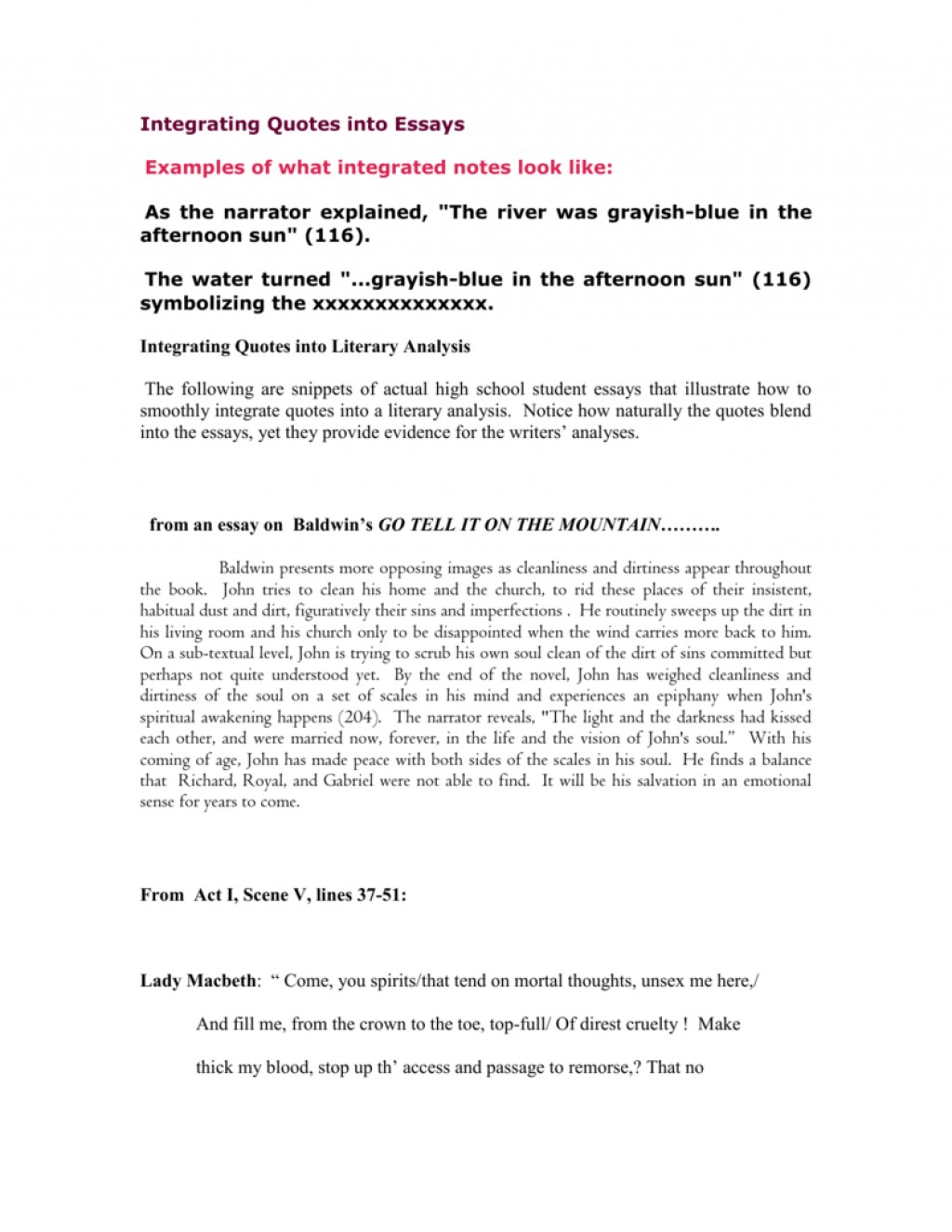 004 007322496 1 Essay Example How To Incorporate Quotes Into Wondrous An Integrating Worksheet A Long Quote Mla Famous In Large