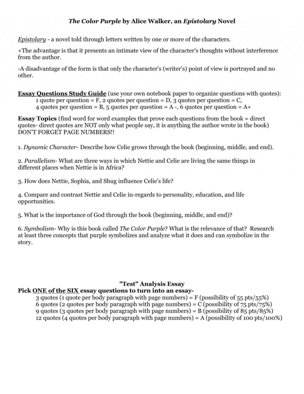 004 008011197 1 The Color Purple Essay Impressive Research Paper Outline Introduction Large