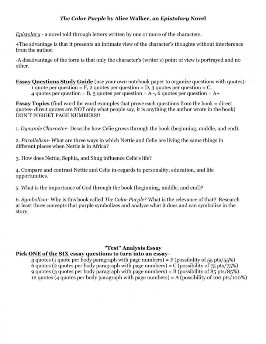 004 008011197 1 The Color Purple Essay Impressive Thesis Ideas
