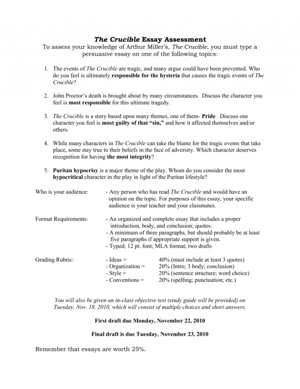 004 008019664 1 Essay On The Crucible Phenomenal And Red Scare Reputation Questions For Act Large