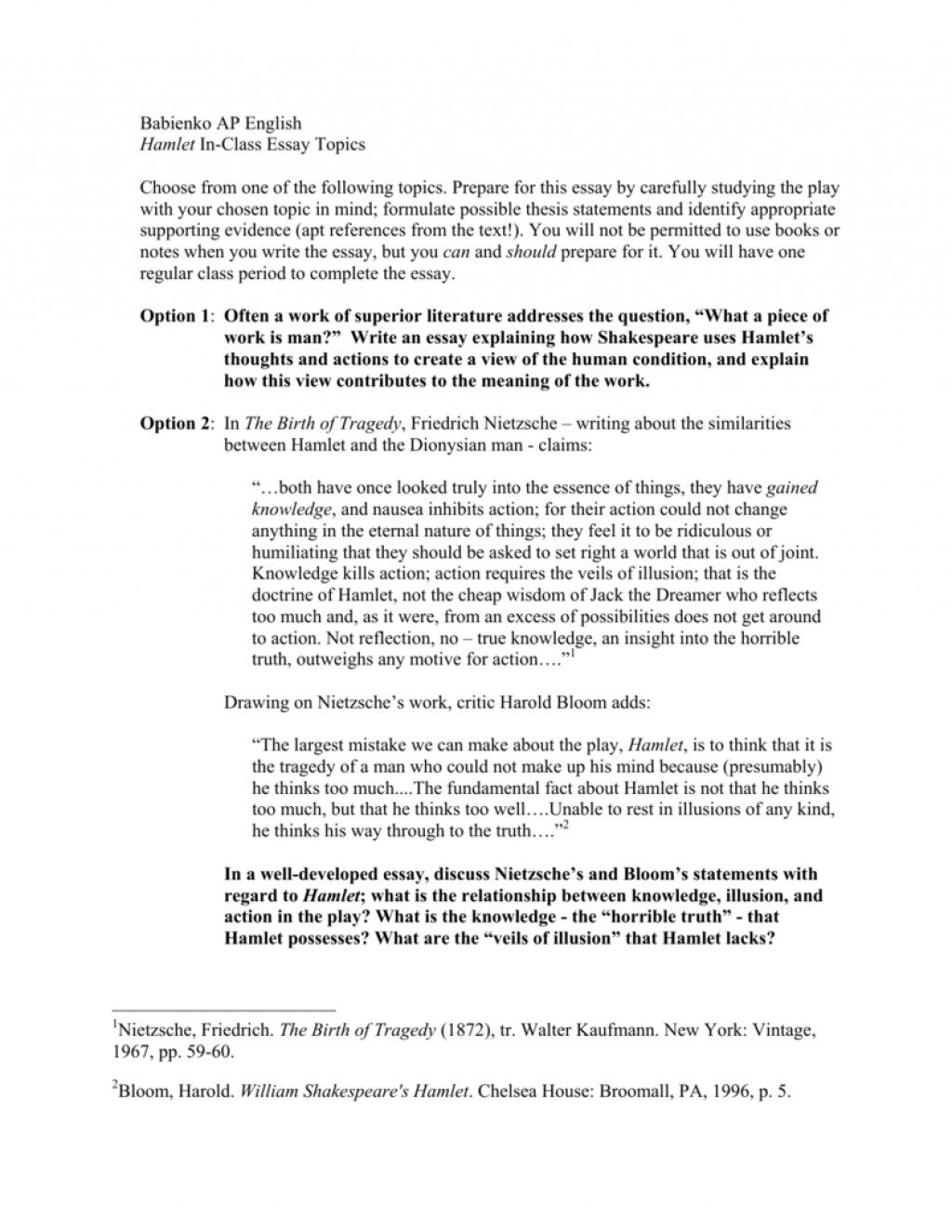 004 008676472 1 Essay Example Hamlet Rare Topics High School And Answers Ap Literature Prompt Large
