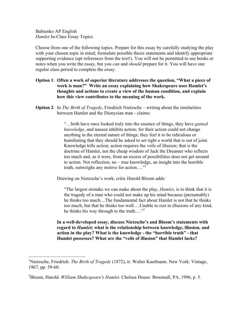 004 008676472 1 Essay Example Hamlet Rare Topics High School And Answers Ap Literature Prompt Full