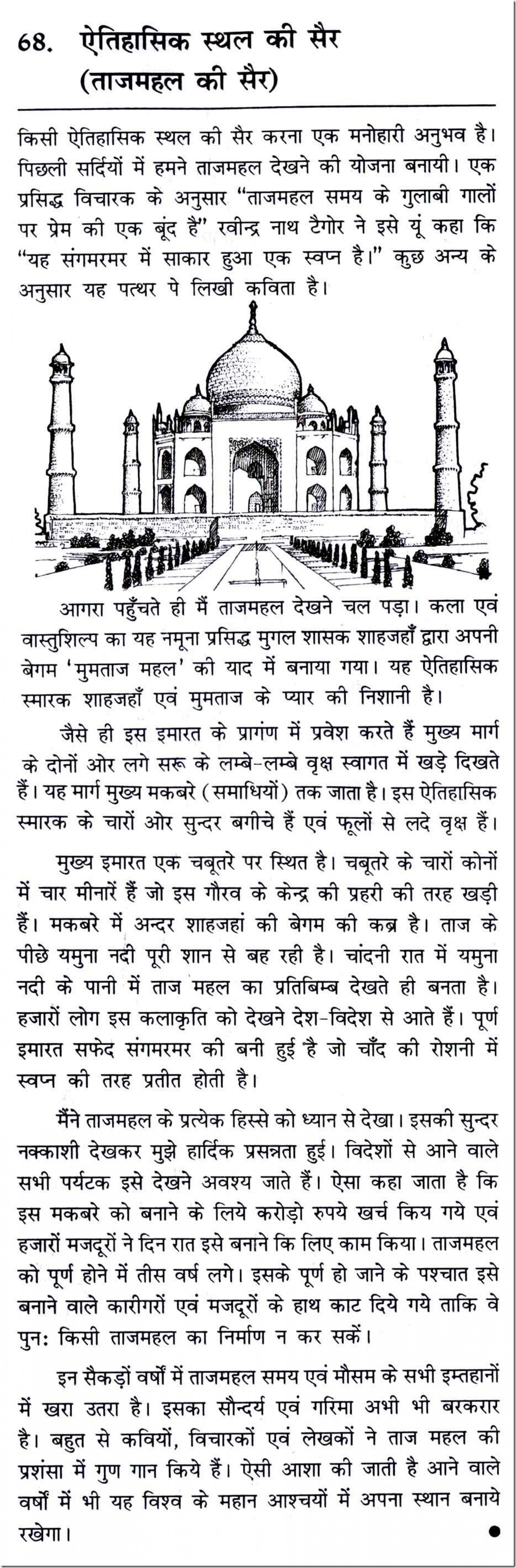 004 10070 Thumb Essay Example My Favourite Place In Surprising India Favorite Tourist Hindi 1920