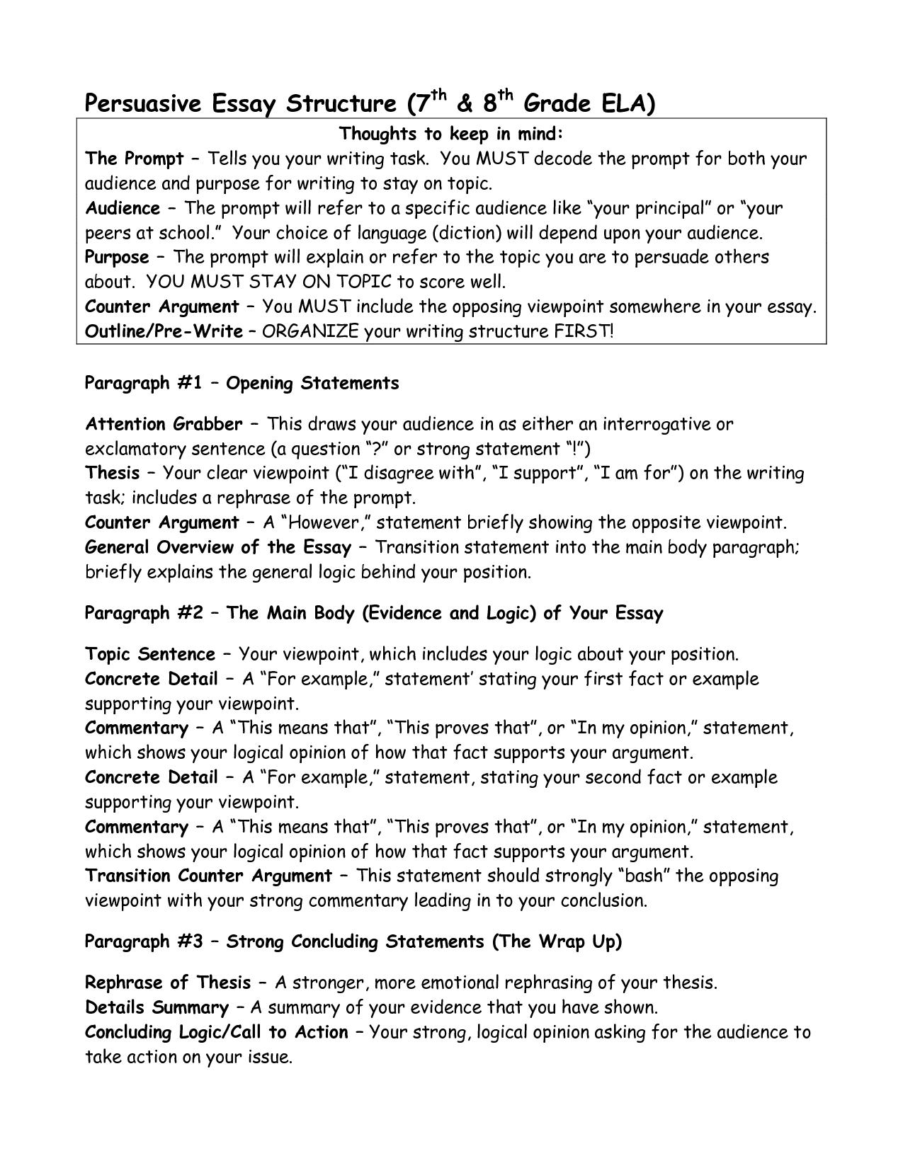 004 6th Grade Argumentative Essays 232762s Shocking Essay Examples Persuasive Full