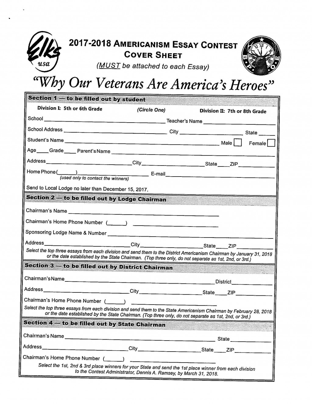 004 Americanism Essay Contest Dcpayrollxerox95 Page 4 Astounding Amvets 2017 For Grades 7–12 Education Leaders Large