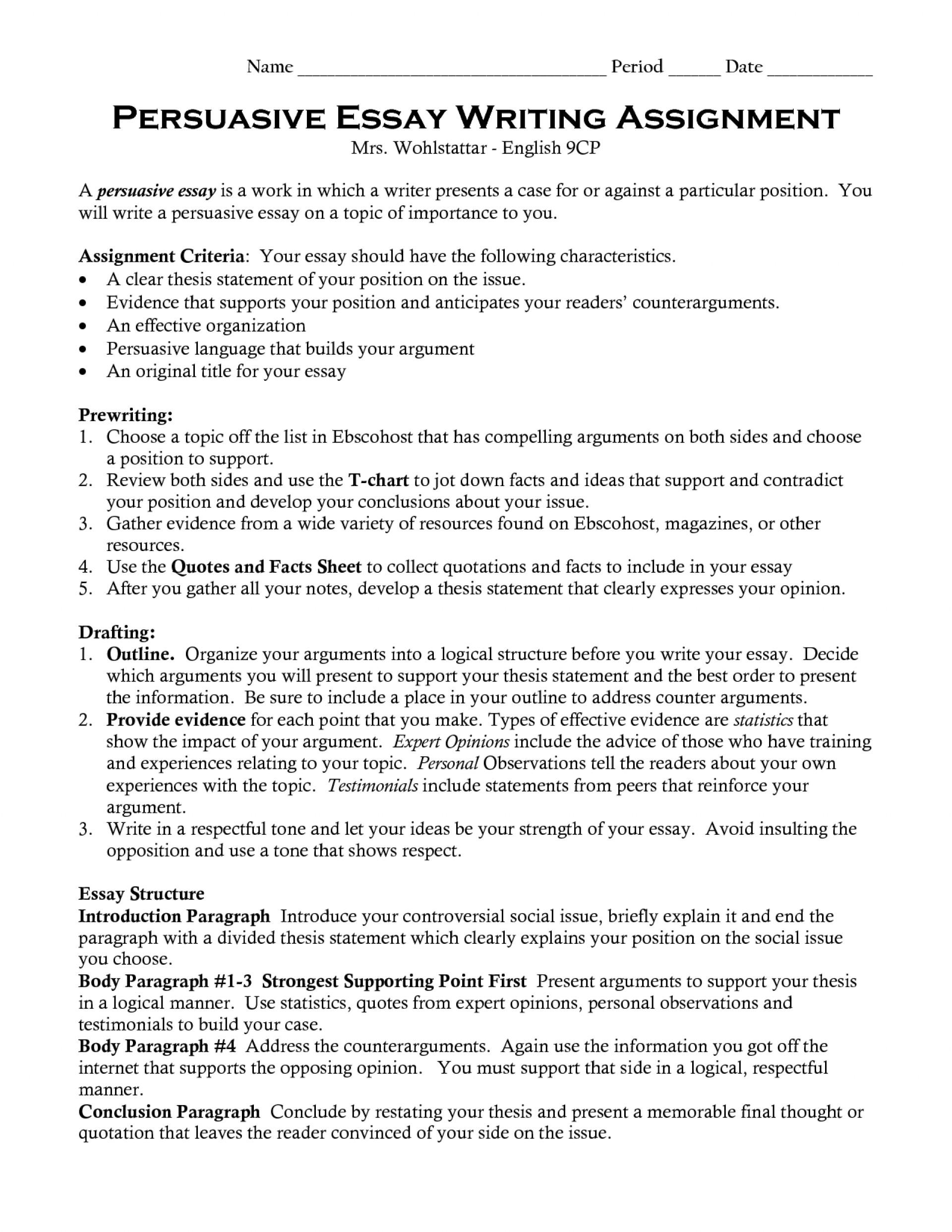 Introduction persuasive essay death penalty