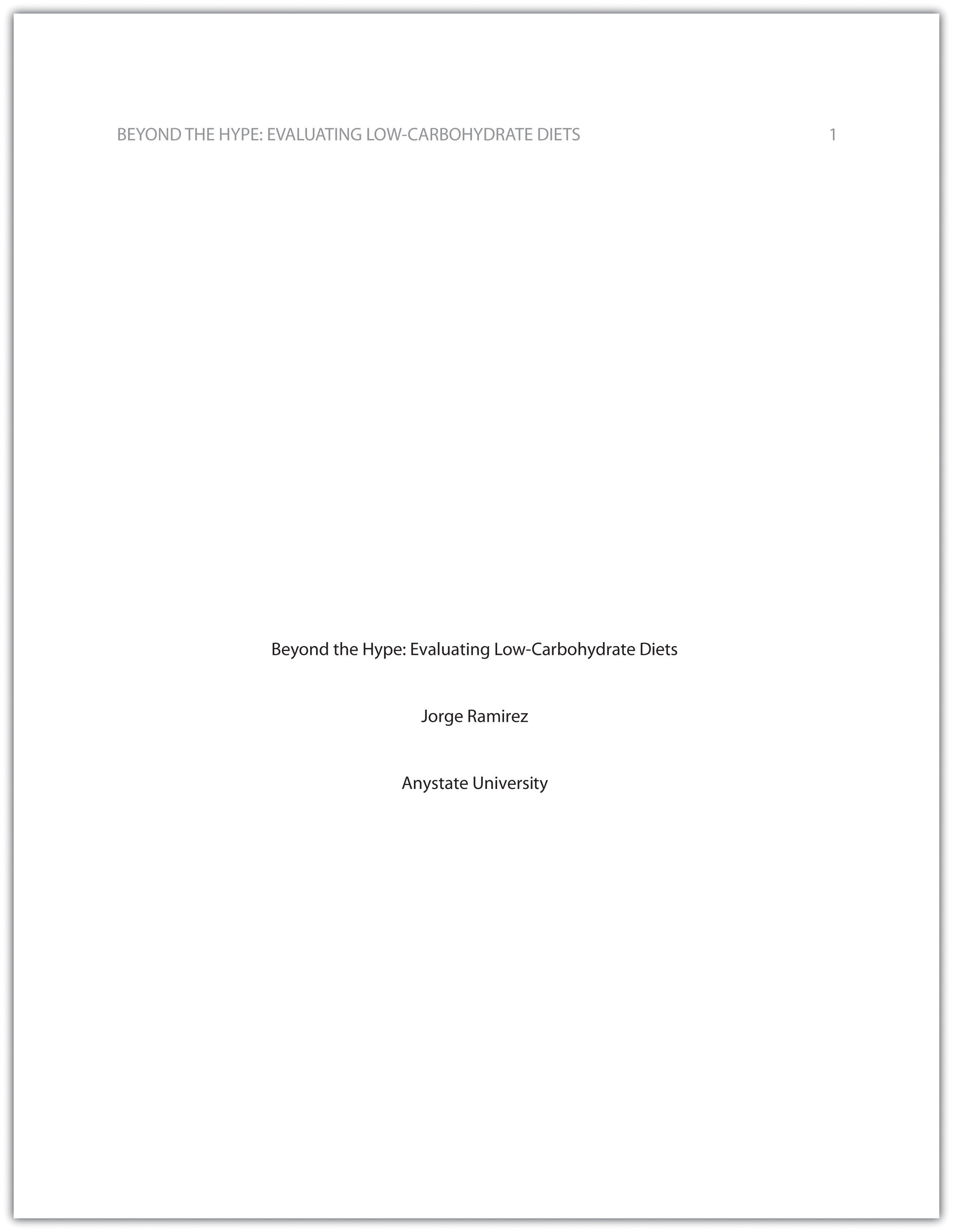 004 Apa Essay Cover Page Example Incredible Correct Title Front Research Full