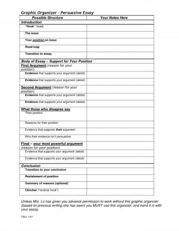 004 Argument Essay Graphic Organizer Breathtaking Persuasive Examples Middle School Argumentative Pdf 360