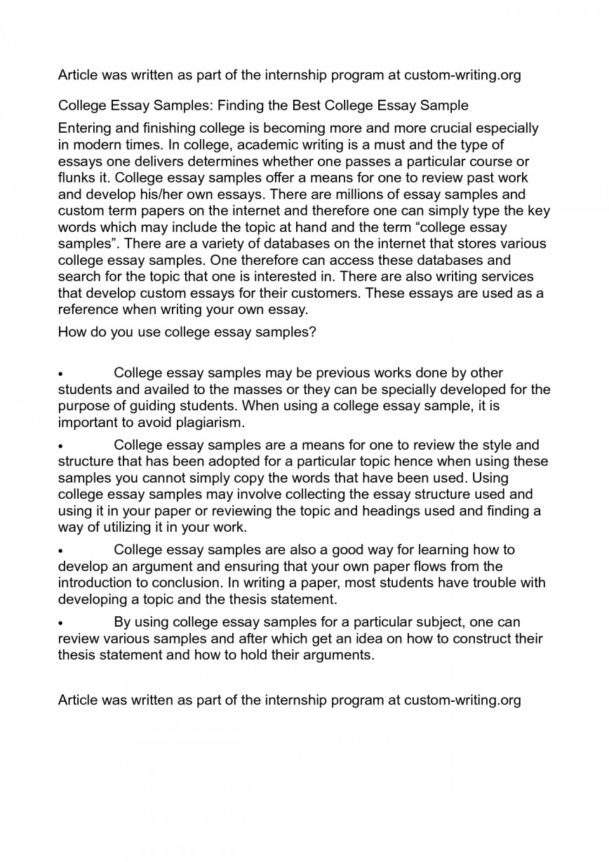 004 Best Essays Essay Example Exceptional For College Admission Of All Time Reddit