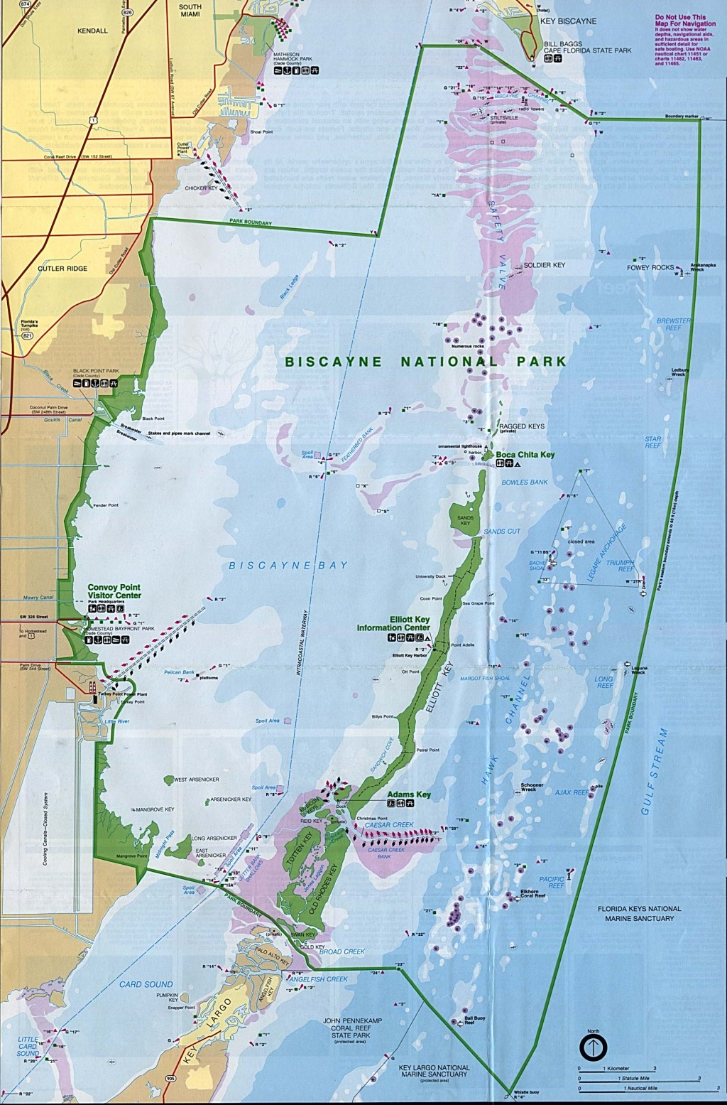004 Biscayne National Park Map Essay Wonderful Large
