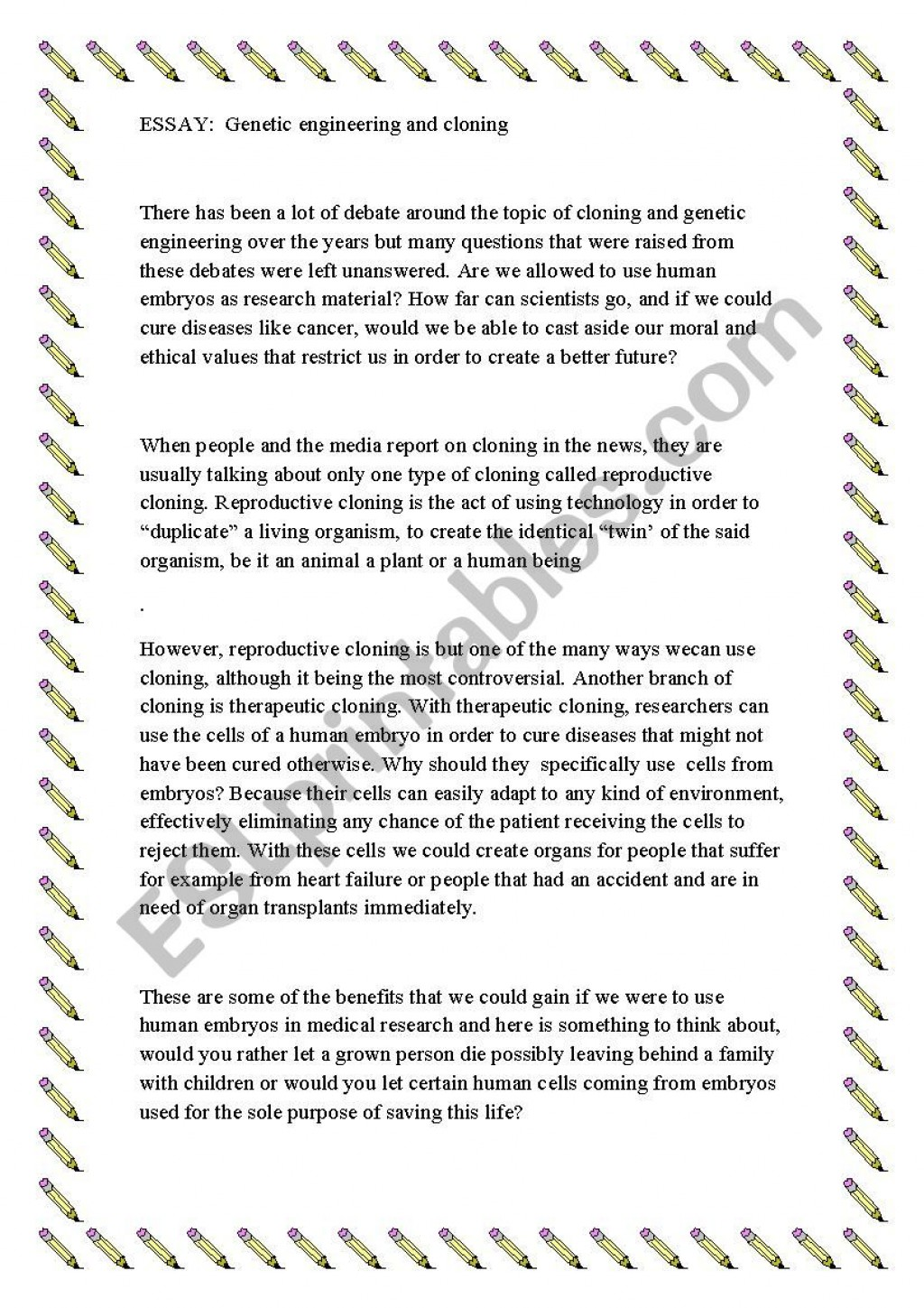 004 Cloning Essay Example 807139 1 Unique Prompts Introduction Large