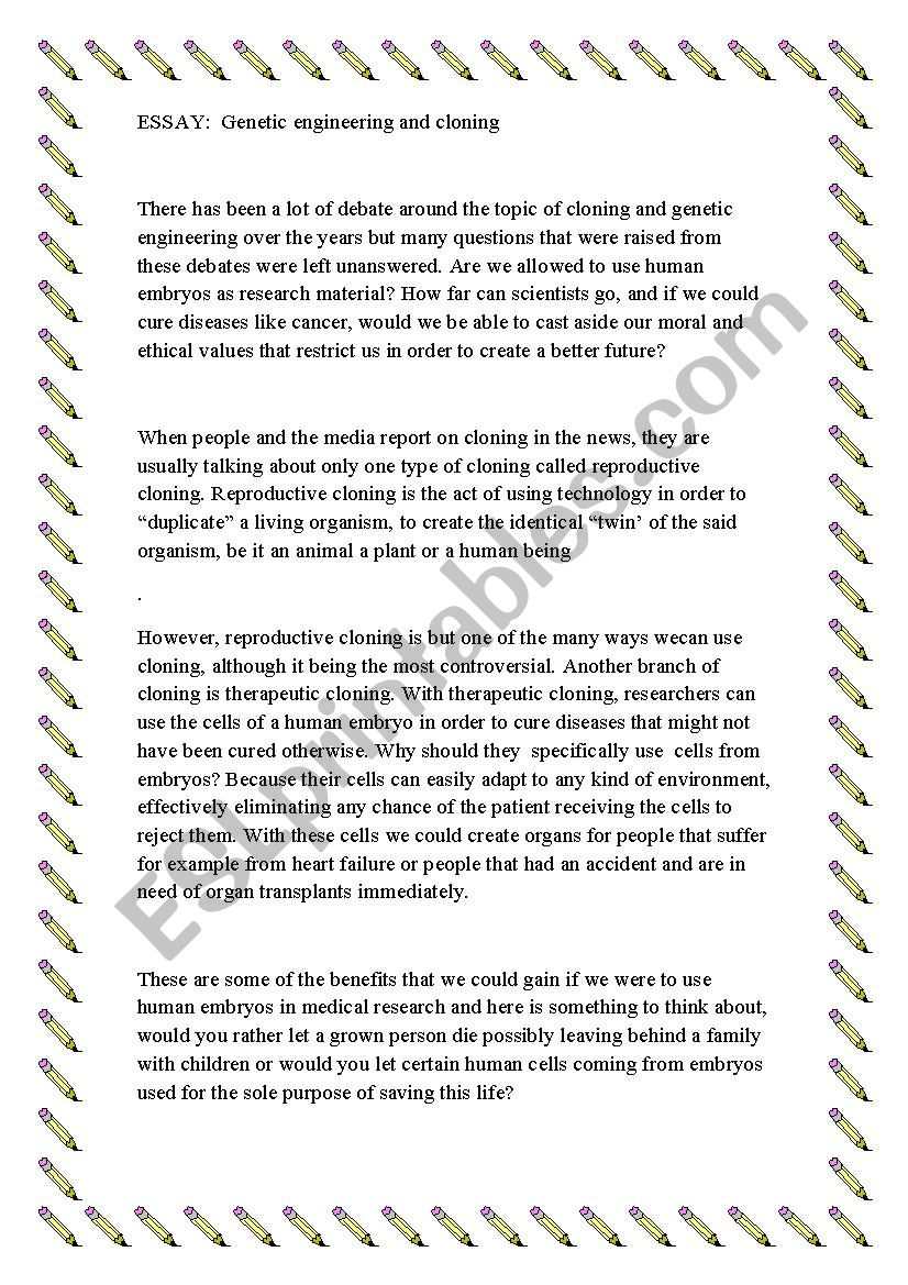 004 Cloning Essay Example 807139 1 Unique Prompts Introduction Full