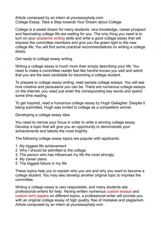 004 Collage Essays P1 Unbelievable Essay Examples Large