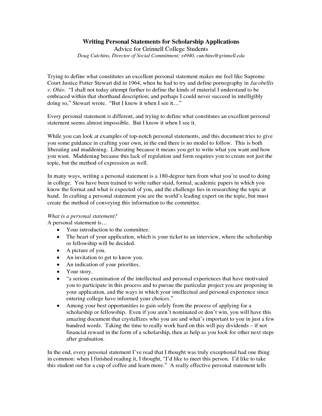 004 College Personal Statement Essays Marvelous Essay Examples Full