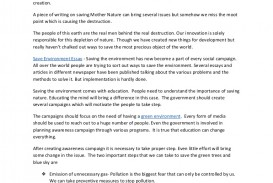 004 Environment Essay Example Saveenvironmentessay Thumbnail Beautiful Pollution Introduction Topics Conclusion