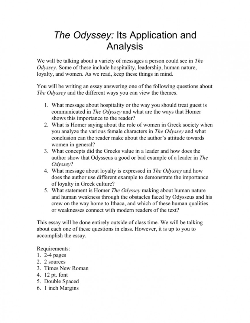 004 Essay Example 008004991 1 Awesome Odyssey Questions Conclusion Hooks