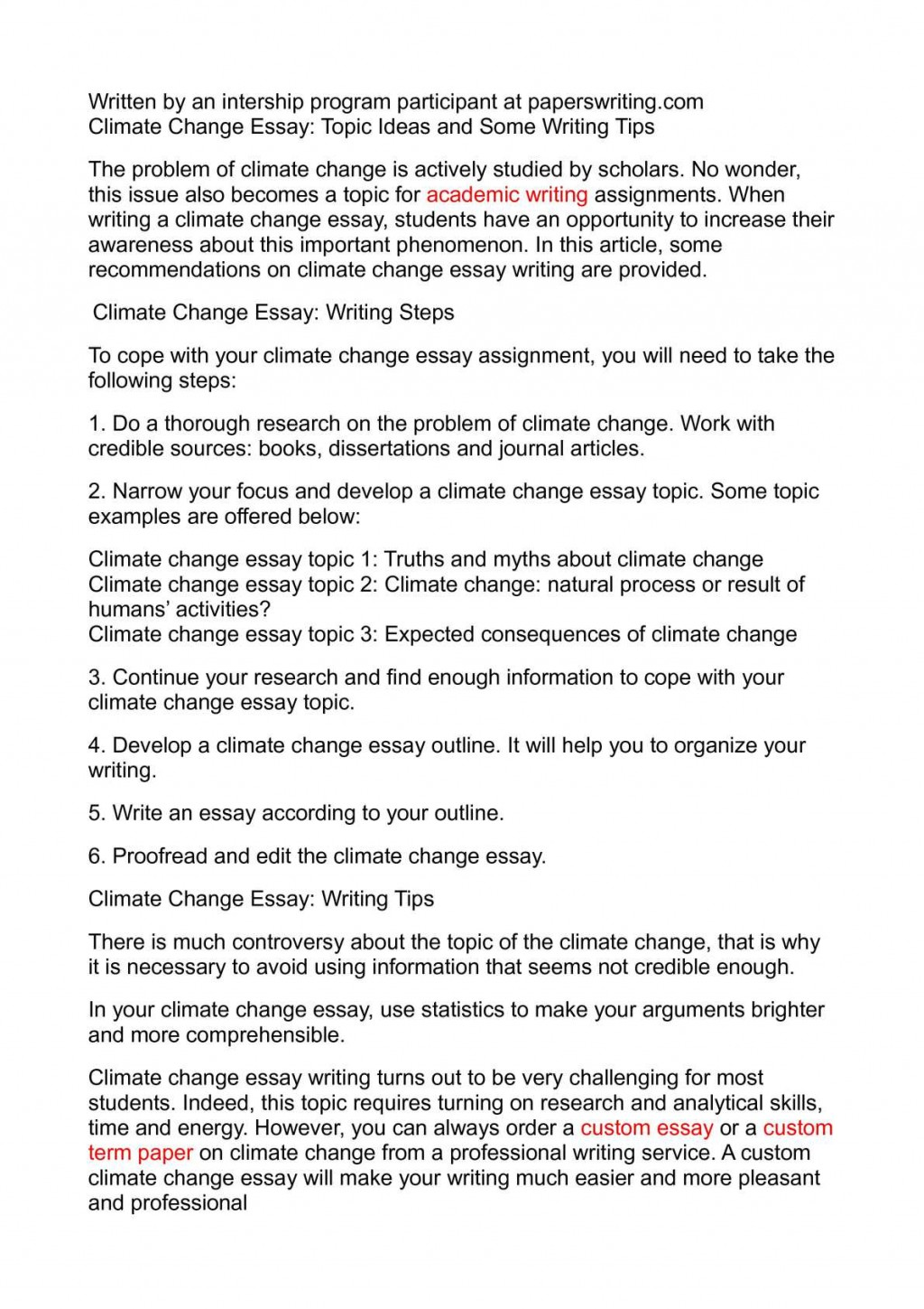 004 Essay Example Awesome Change Topics The World Contest Titles Large