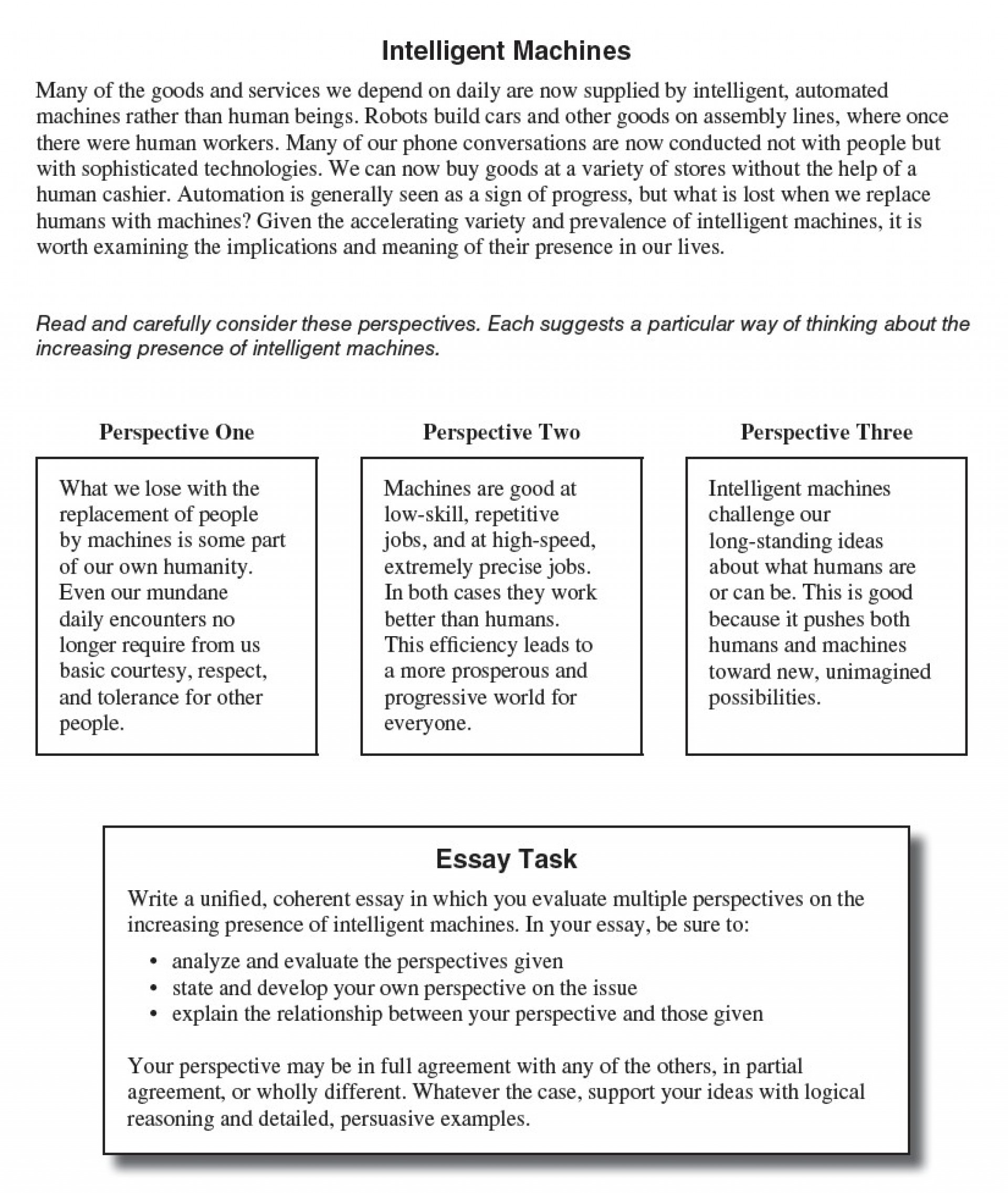 004 Essay Example Act Prompt Fearsome Examples Good Score Average 1920