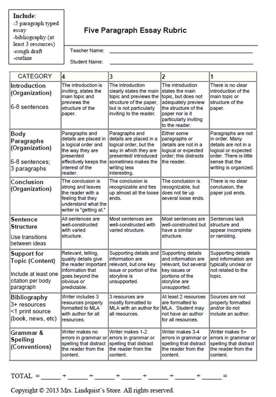 004 Essay Example Argumentative Surprising Rubric Grade 7 Persuasive 10th Large