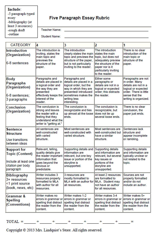 004 Essay Example Argumentative Surprising Rubric Grade 7 Persuasive 10th Full