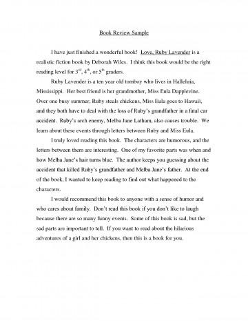 004 Essay Example Book Impressive Report Sample Examples Of Literary 360