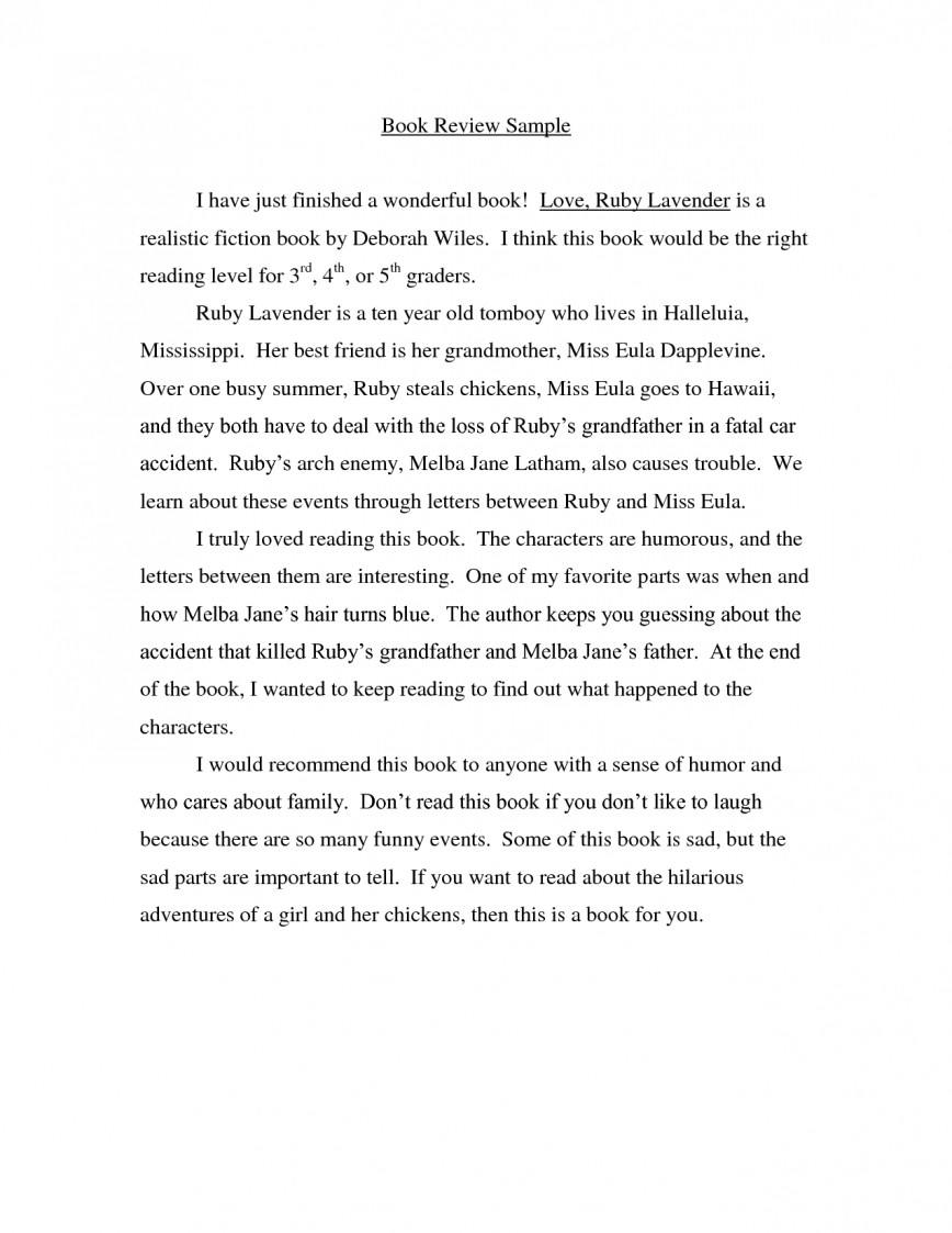 004 Essay Example Book Impressive College Review Novel Analysis Sample