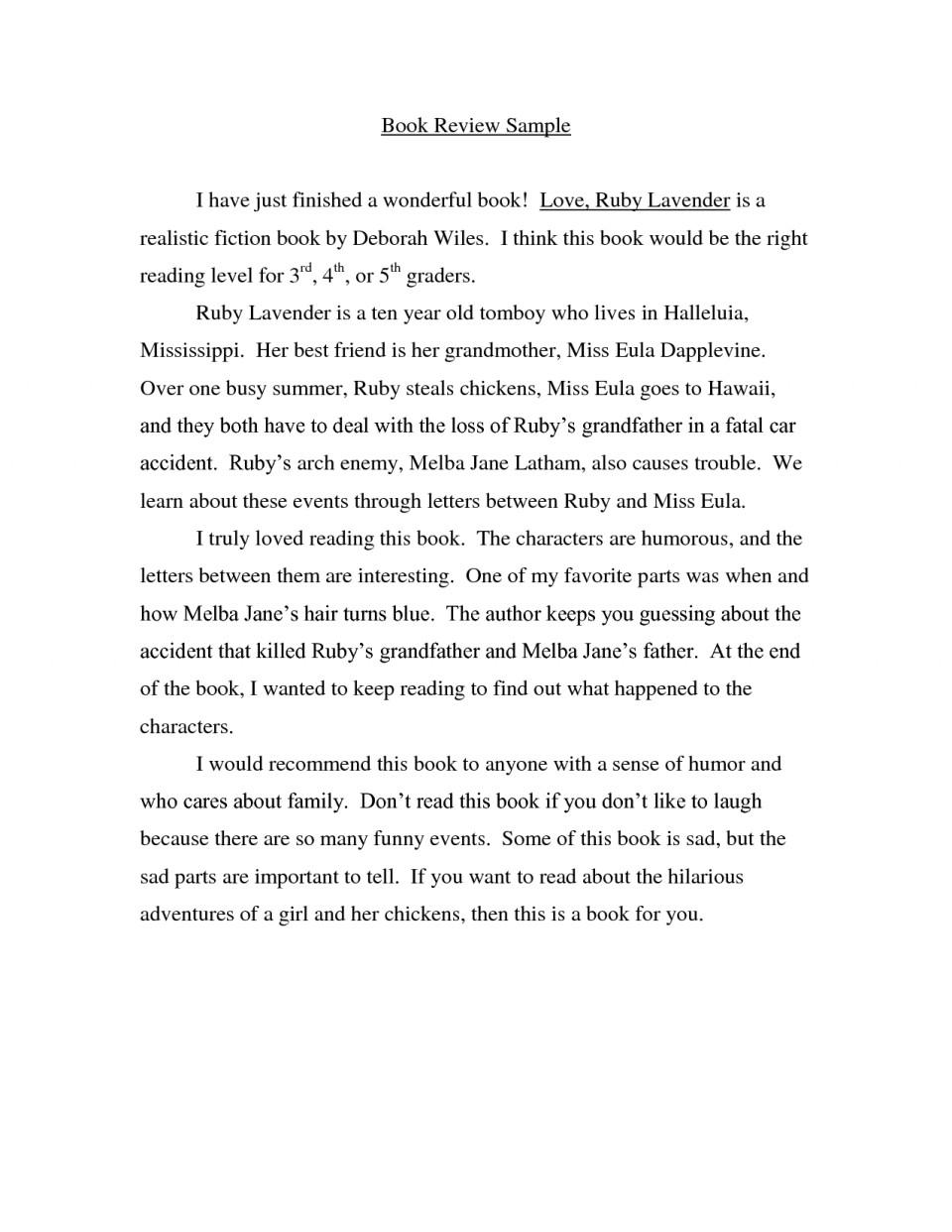 004 Essay Example Book Impressive Report Sample Examples Of Literary 960