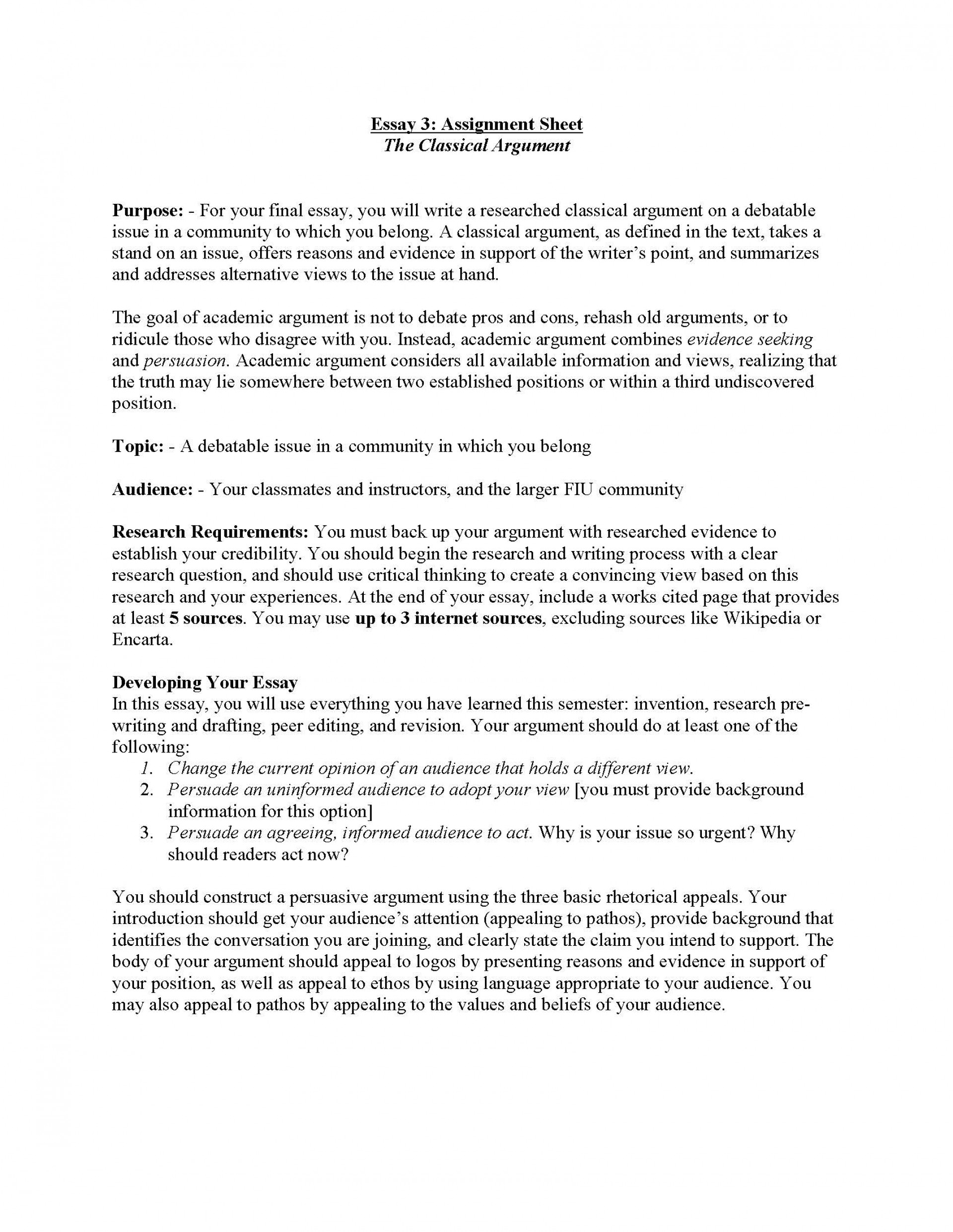 004 Essay Example Classical Argument Unit Assignment Page 1 About My Archaicawful Life As A Student Experience Of University And Peer Pressure 1920