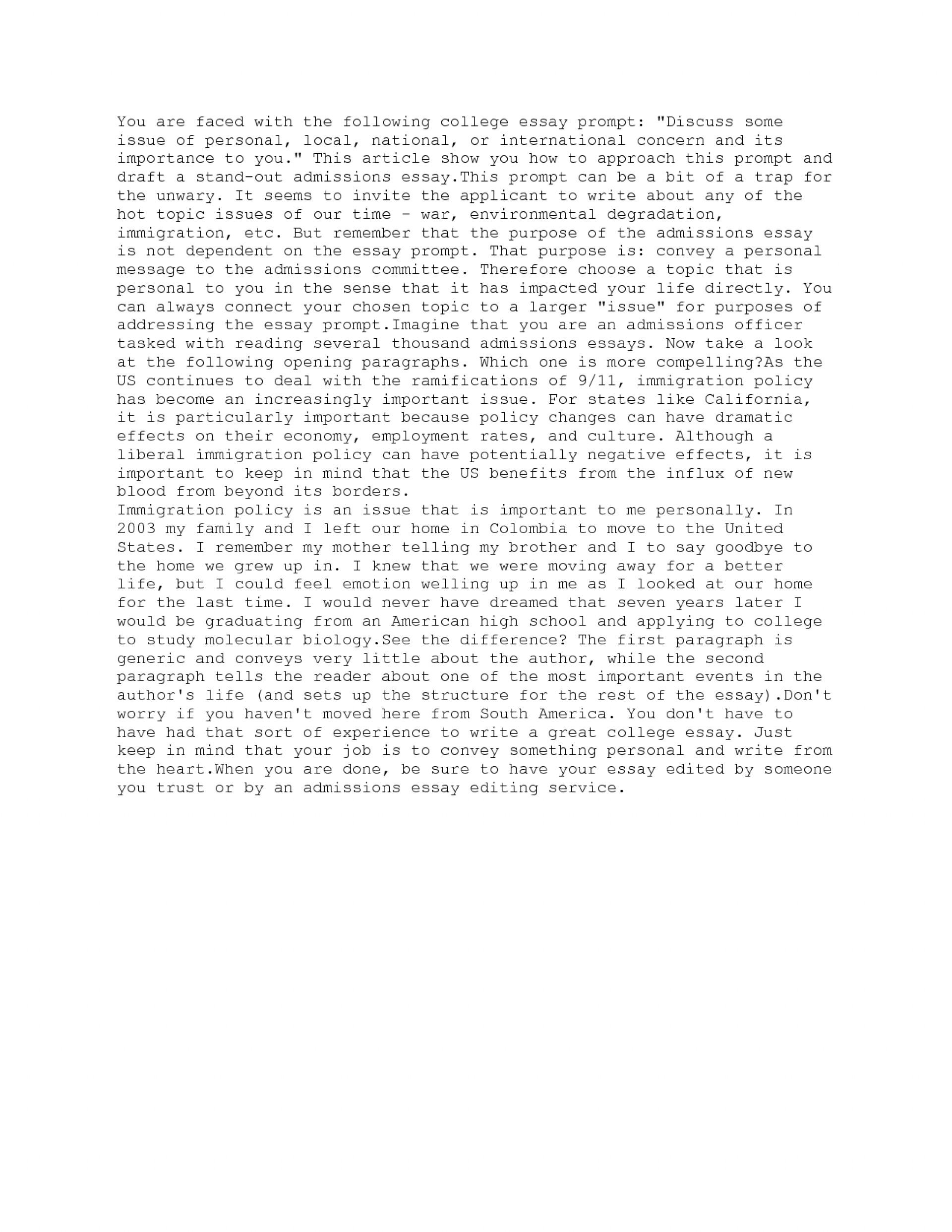 004 Essay Example Common App Essays Best Application Examples Harvard Prompts 2014-15 1920