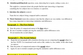 004 Essay Example Compare And Contrast Format Rare Writing 3rd Grade Sample High School Pdf