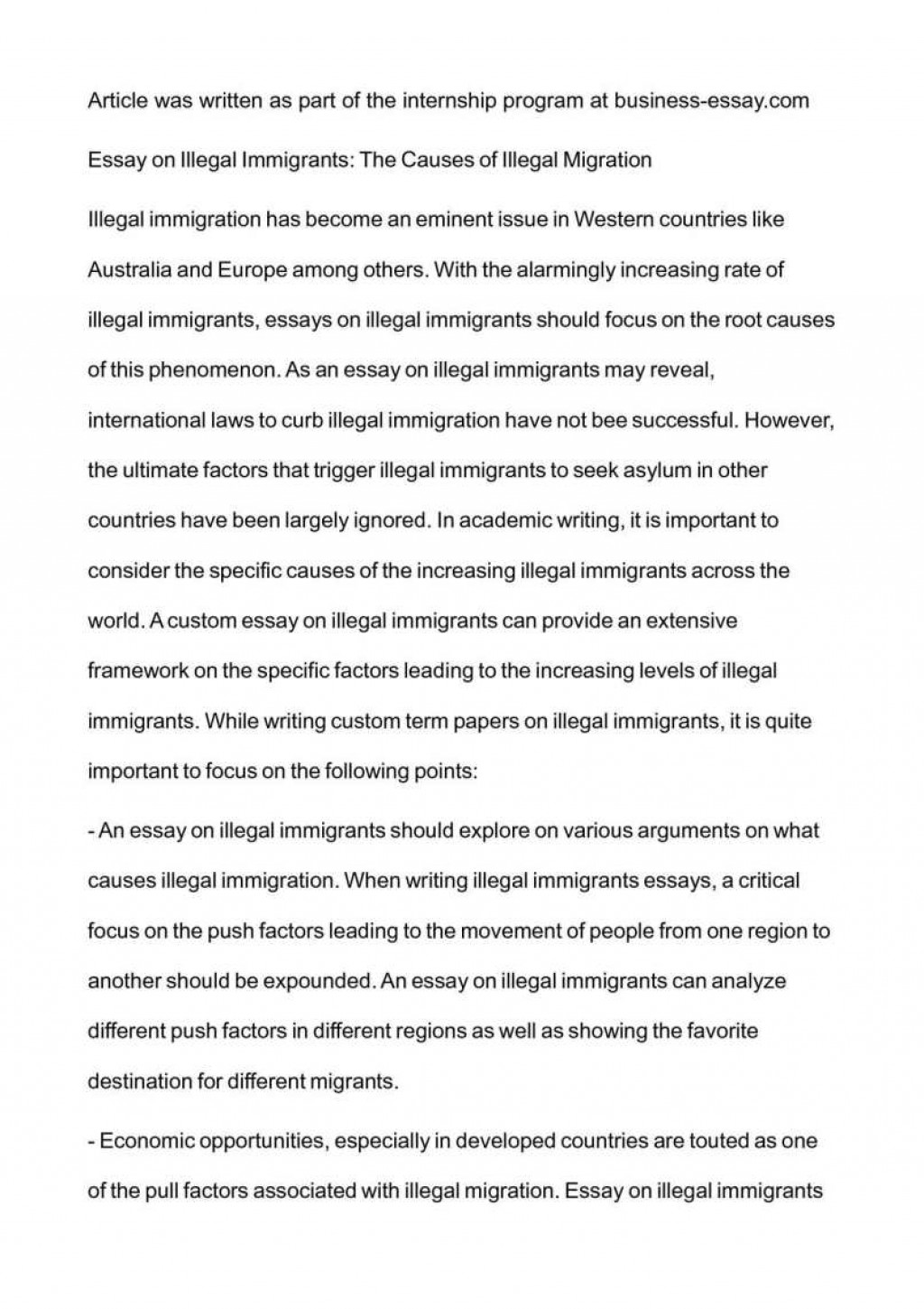 004 Essay Example Conclusion On Immigration Fearsome Large