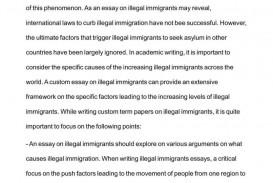 004 Essay Example Conclusion On Immigration Fearsome