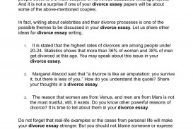 004 Essay Example Divorce Unusual Conclusion Cause And Effect Tagalog