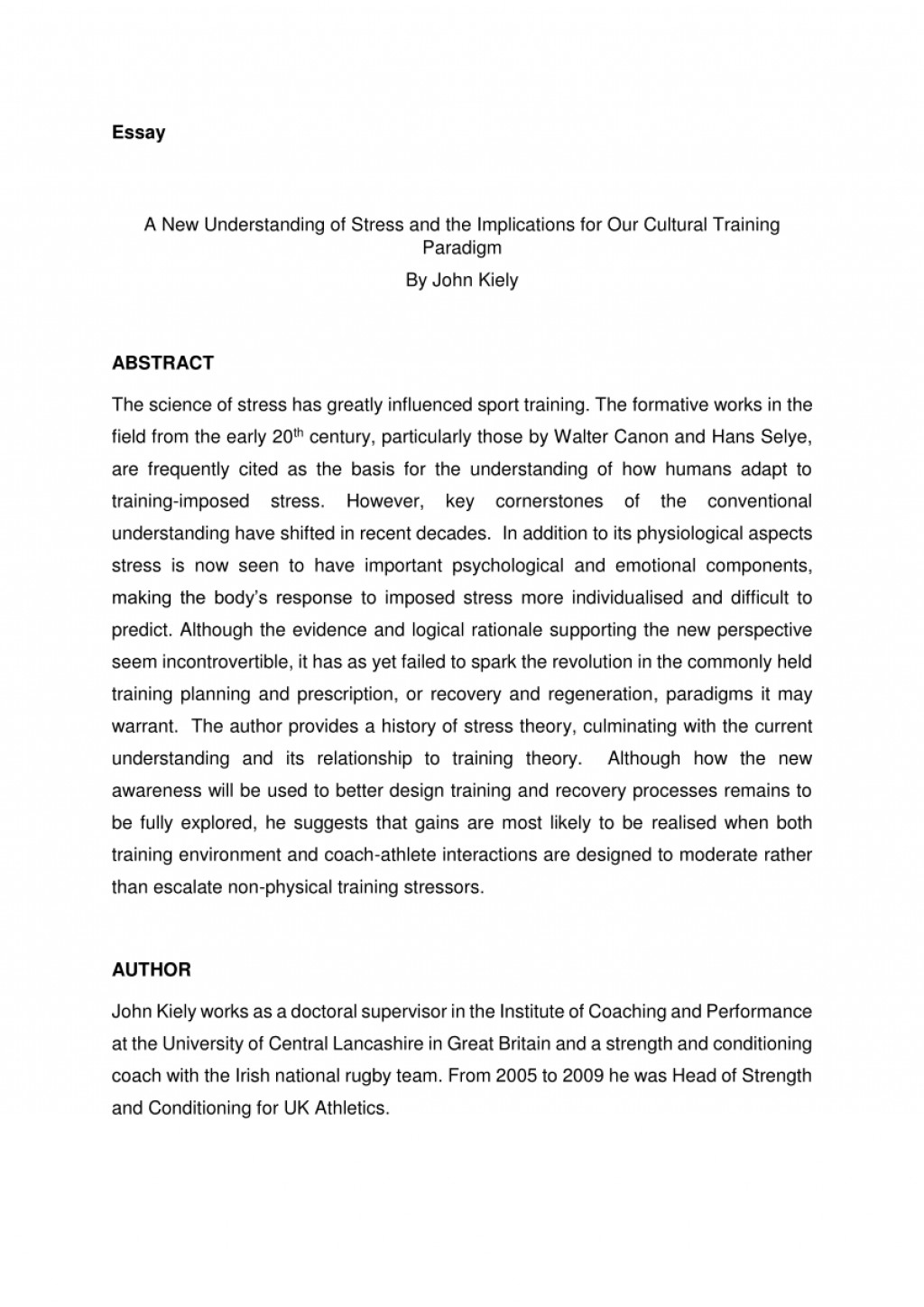 004 Essay Example Effect Of Stress On Students Exceptional Effects Among College Cause And Large