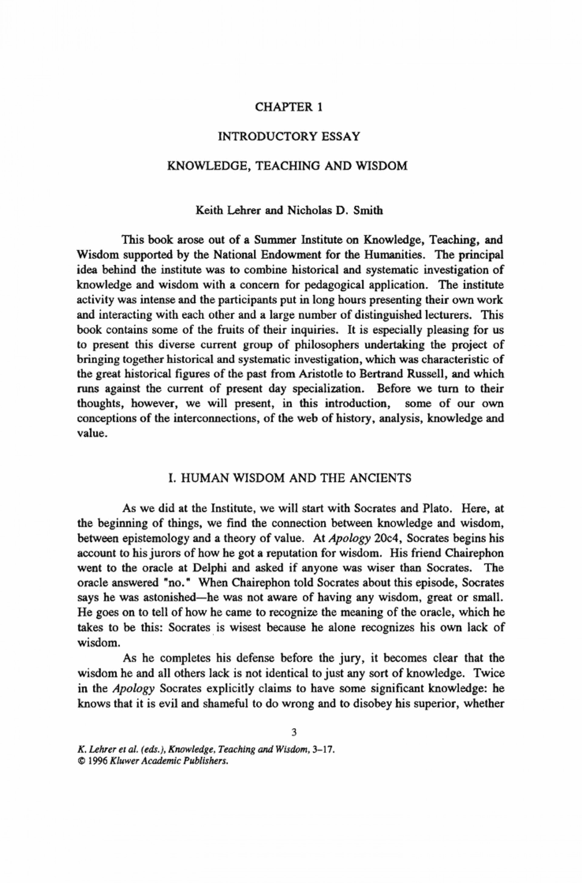 what is knowledge philosophy essay