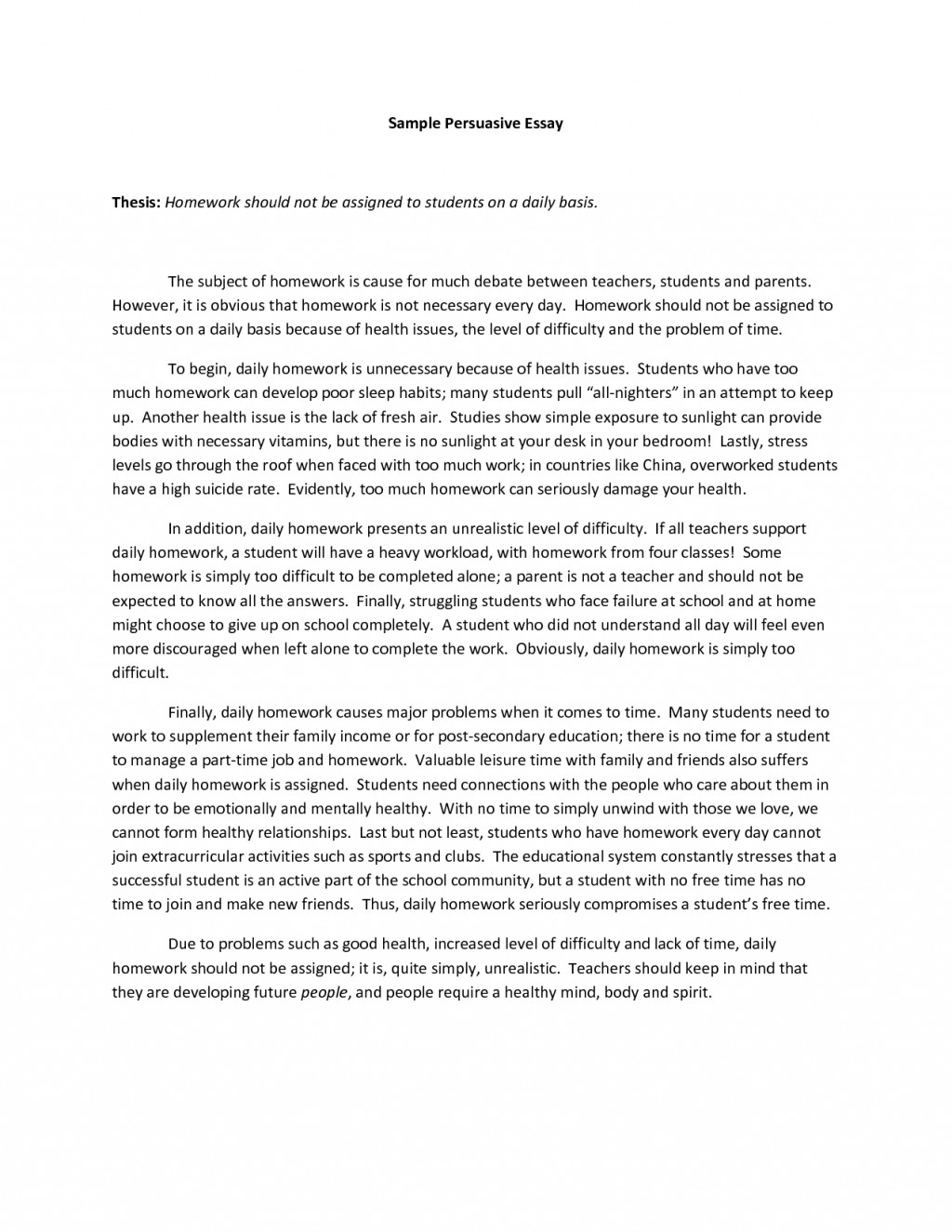 004 Essay Example Examples Of Persuasive Essays Excellent For Fifth Graders Written By 5th 3rd Grade Large