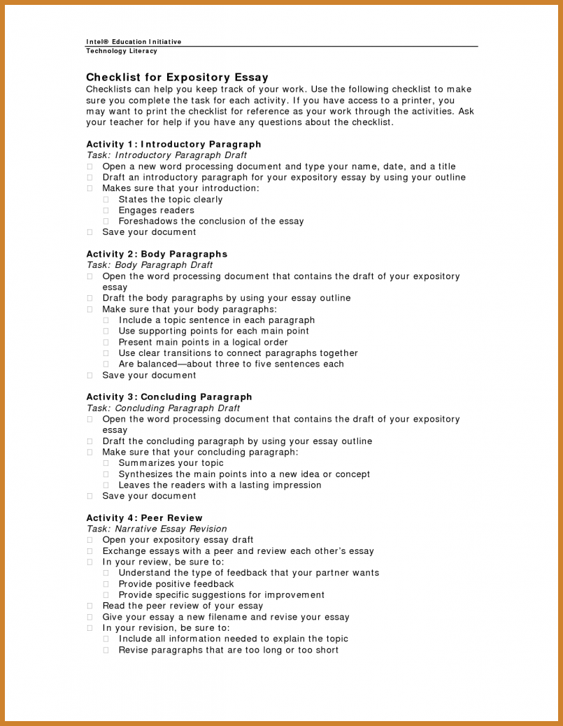 004 Essay Example Expository Outline Surprising Sample Template Middle School Full