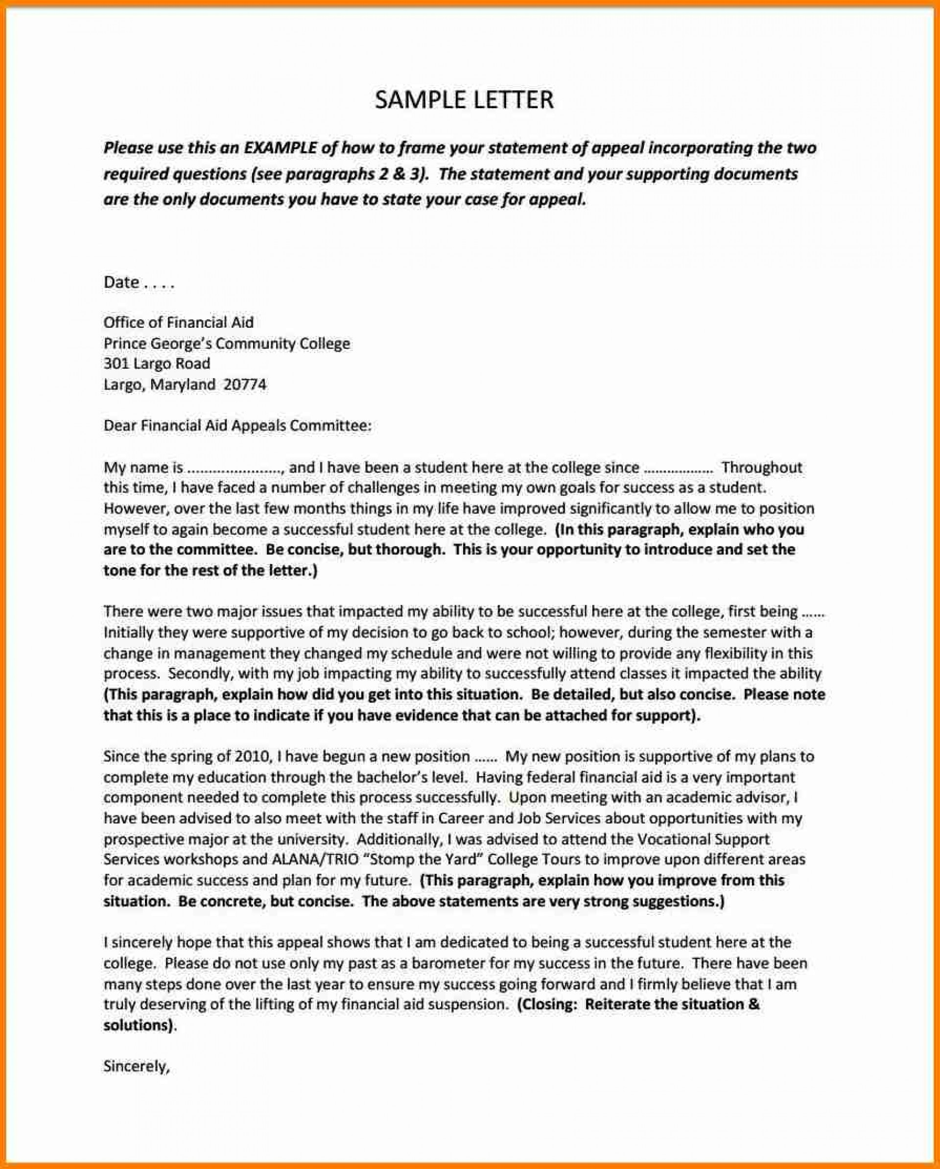 004 Essay Example Financial Aid Appeal Letter Essays Of Sample For Remarkable Examples Sap 1920