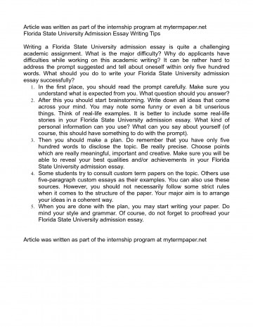004 Essay Example Fsu Prompt Unique Care Program 360