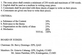 004 Essay Example Guidelines Writing Contest Mechanics Buy Online And Get Custom Criteria For I In Filipino Judging Assessment English Marking Nutrition Month Science Astounding Descriptive Pdf Expository Format High School Middle