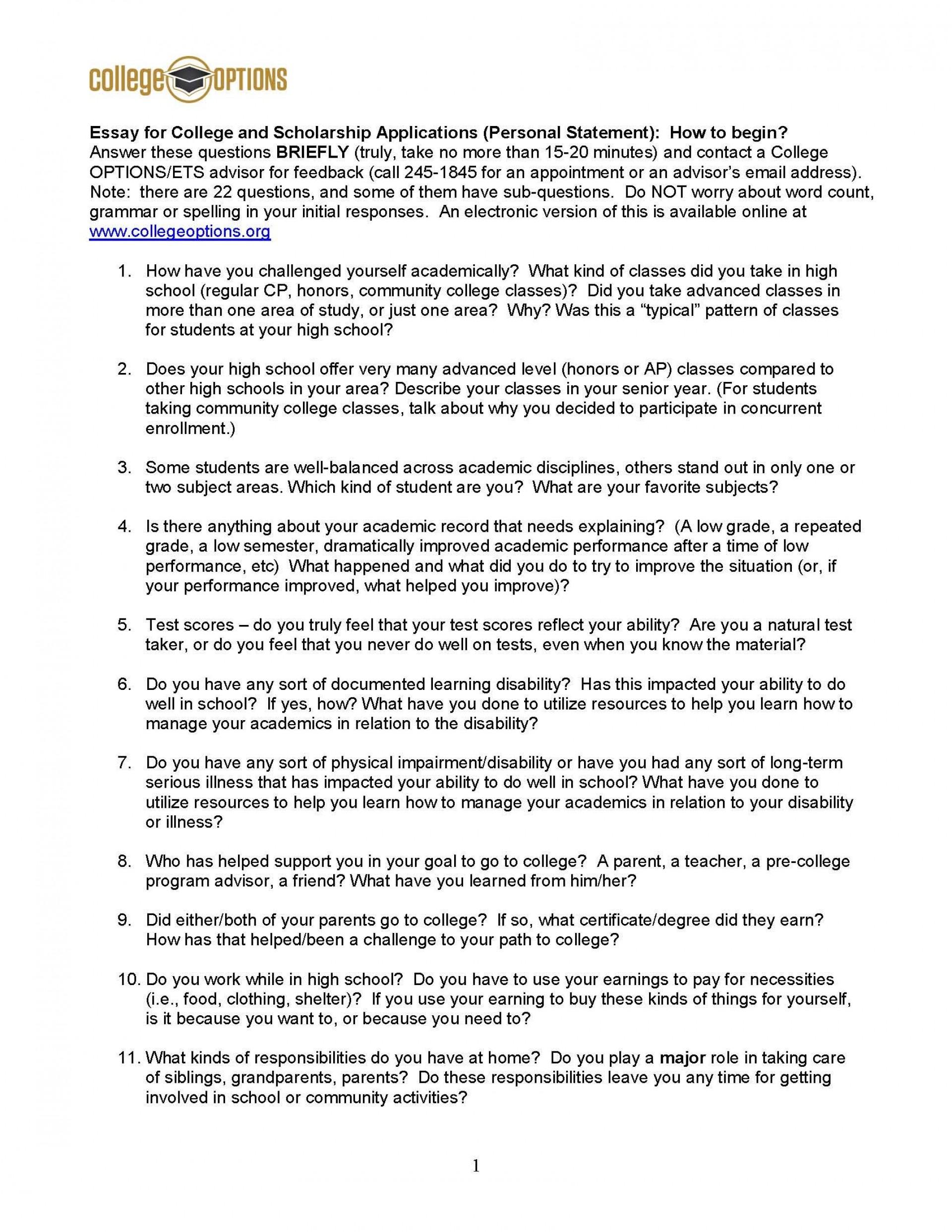 004 Essay Example How Many Common App Essays Do You Amazing Write Should 1920