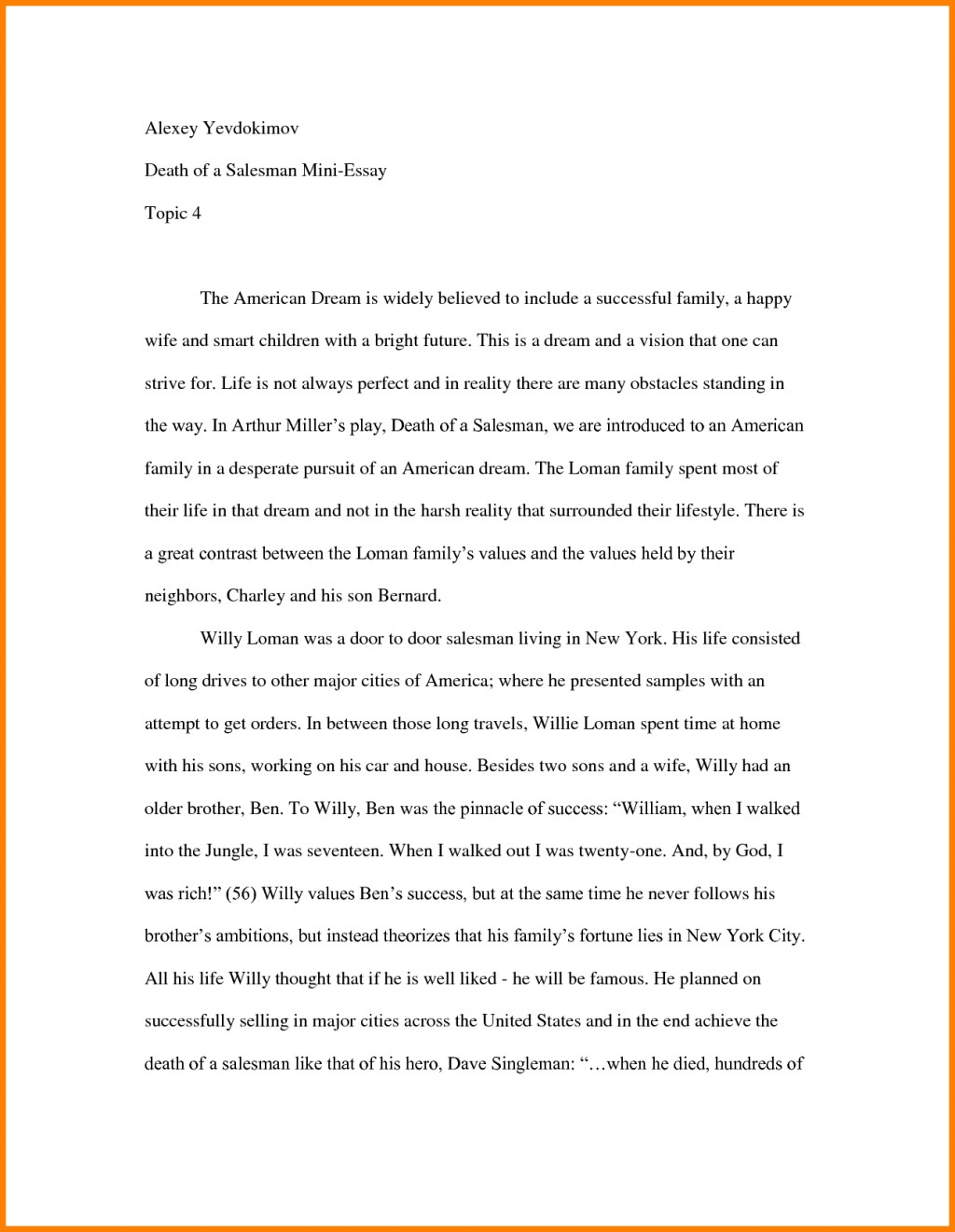 004 Essay Example How To Start Off An About Yourself Amazing With A Hook Quote Analysis On Book Large