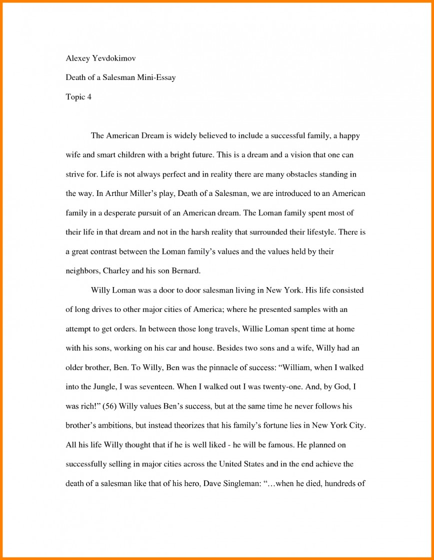 004 Essay Example How To Start Off An About Yourself Amazing With A Hook Quote Analysis On Book 868