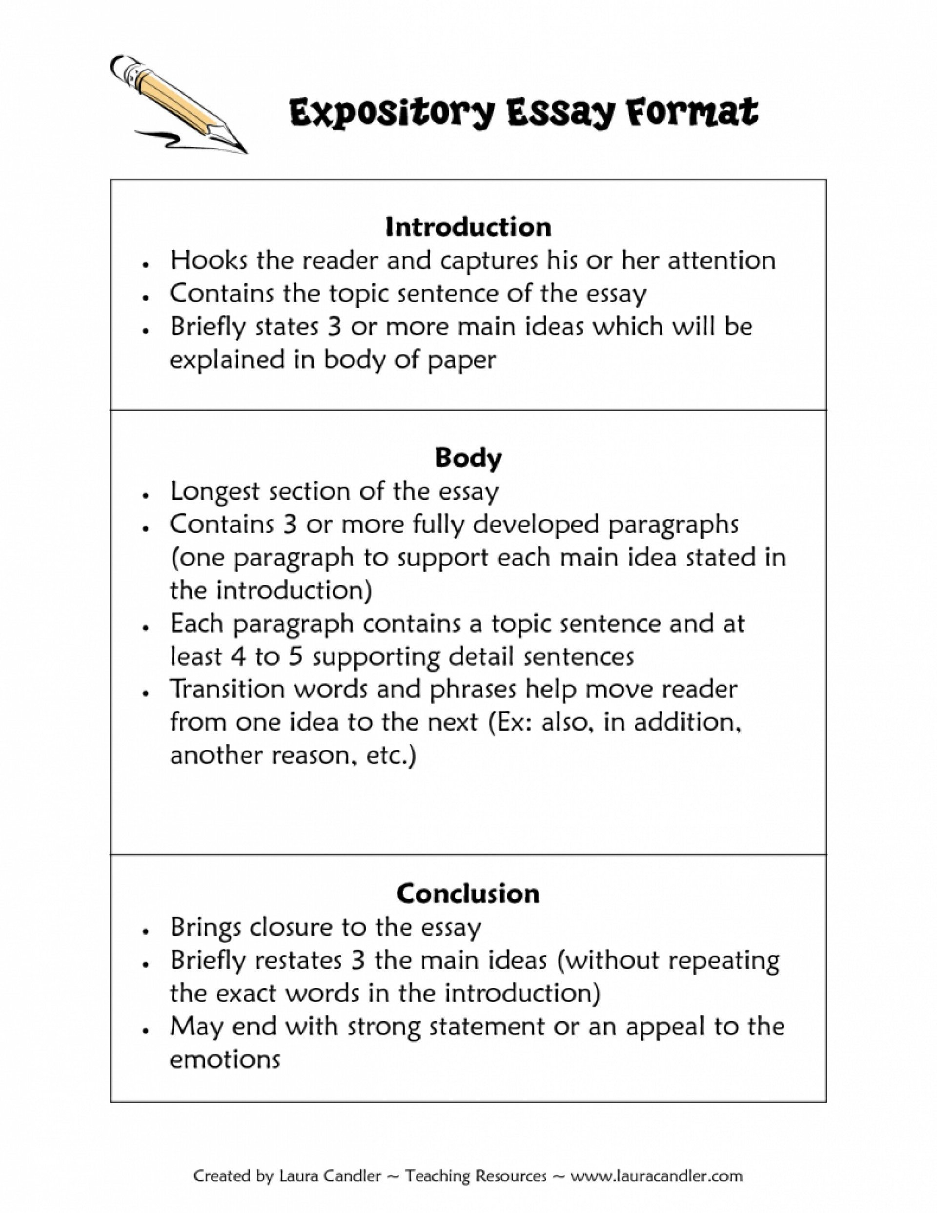 004 Essay Example How To Write An Remarkable Expository 3rd Grade 5th Pdf 1920