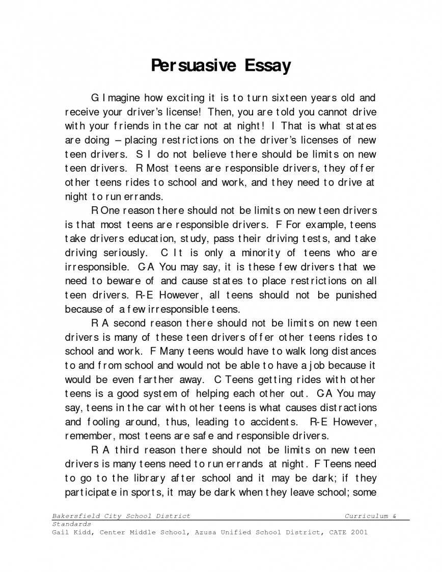 004 Essay Example How To Write Persuasive Outstanding A For Middle Schoolers Ap Lang In Spanish 868