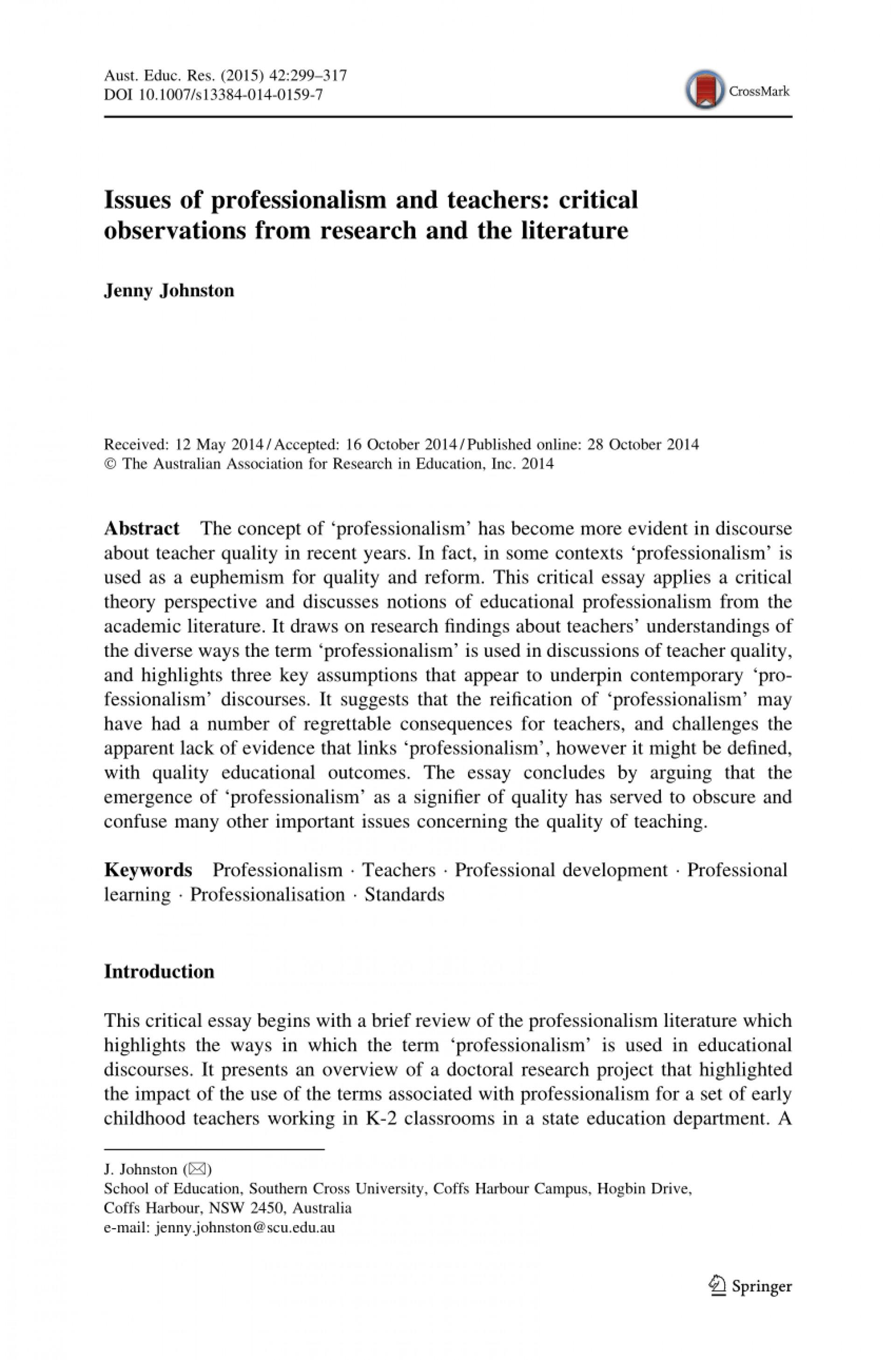 004 Essay Example Largepreview Sensational Professionalism Pdf Conclusion Teacher 1920