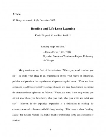 004 Essay Example Largepreview Life Long Sensational Learning Lifelong Sample Pdf 360