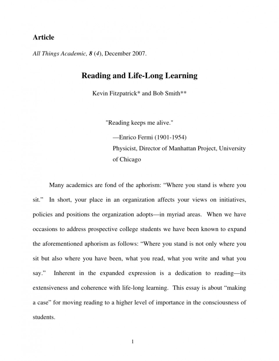 004 Essay Example Largepreview Life Long Sensational Learning Lifelong Sample Pdf 960