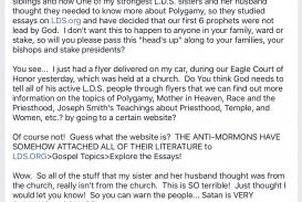 004 Essay Example Lds Org Essays Wondrous Lds.org On Polygamy