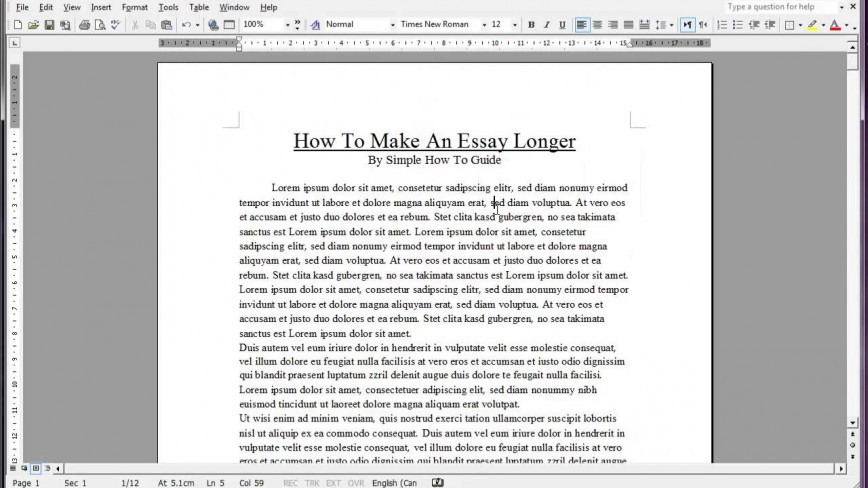 004 Essay Example Maxresdefault How To Make An Longer Word Top Count